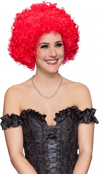 Perruque femme boucles rouges