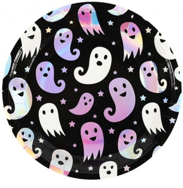 8 assiettes fantômes holographiques 23cm