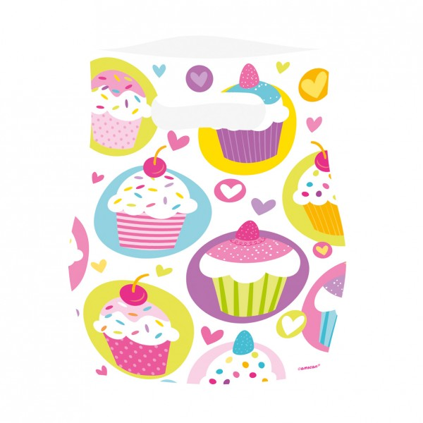 6 Cupcake Party Geschenktüten