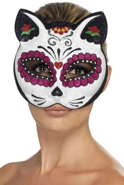 Masque de crâne de sucre Jolis chats