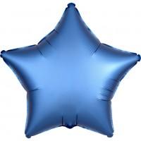 Shiny blue star Folienballon 43cm