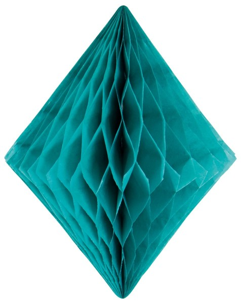 Honeycomb diamond turquoise 30cm