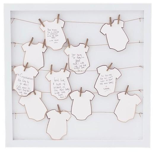 Baby shower guest book frame 40cm