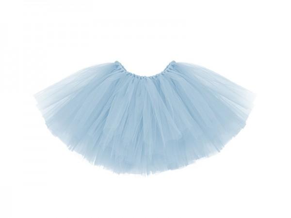 Tüllrock Tutu Himmelblau mit Schleife Taillenumfang 50cm
