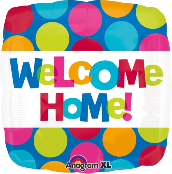 Square Welcome Home dot balloon
