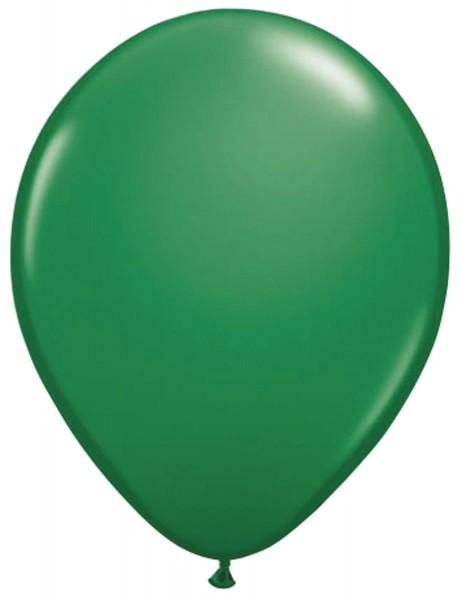 10 ballons verts Helene 30cm