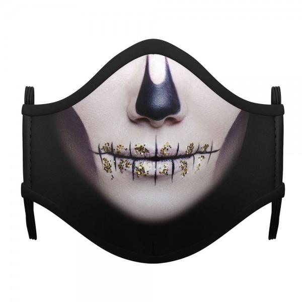 Mund Nasen Maske Skull Girl für Mädchen