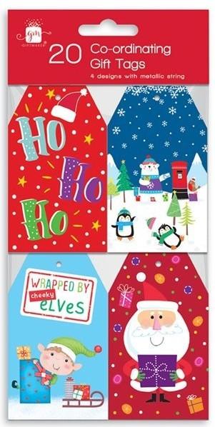 20 étiquettes-cadeaux du monde de Noël