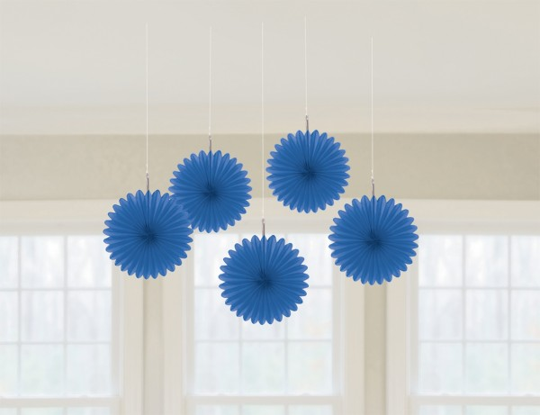 5 rosetas de papel azul royal Juliane 15cm