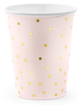 6 Party Queen paper cups pink 260ml