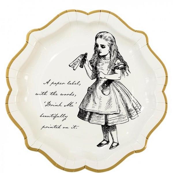 12 Alice Tea Party Pappteller 23cm