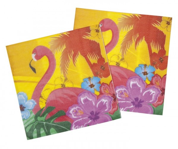12 Flamingo Hawaii Feeling napkins