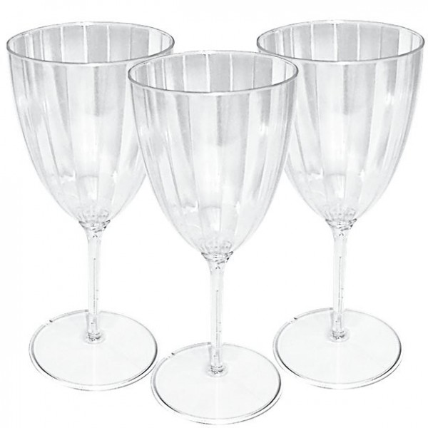 8 plastic wine glasses transparent 227ml