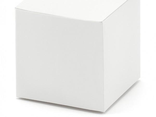 10 coffrets cadeaux blancs 5 x 5cm