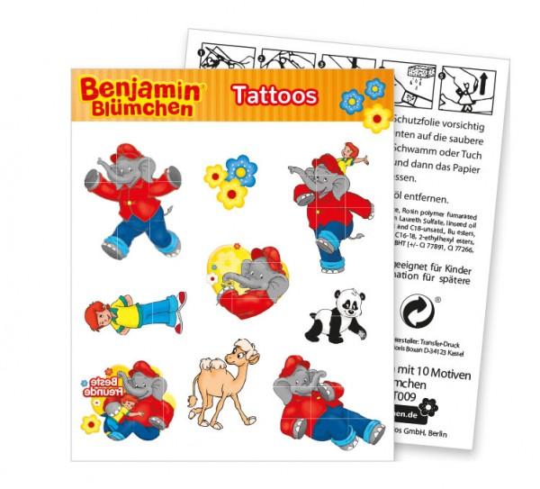 Benjamin Blümchen tattoo sheet