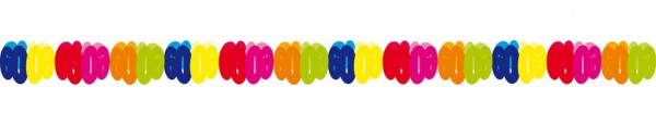 Farbenfrohe Papiergirlande 60