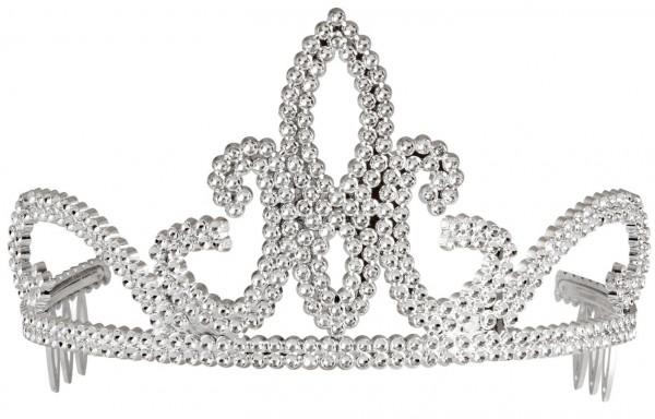 Silberne Glitzer Tiara