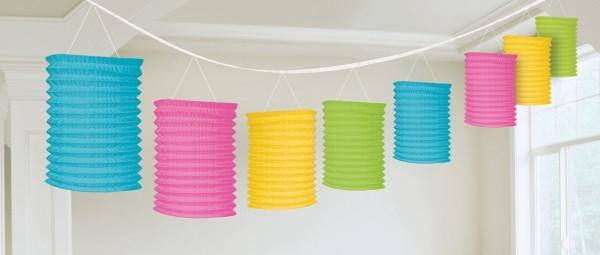 Colorful paper lantern garland 3.65m