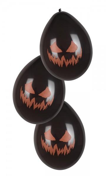 6 palloncini con zucca infernale 25 cm