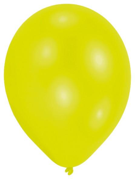 Lot de 50 ballons vert citron 27,5 cm