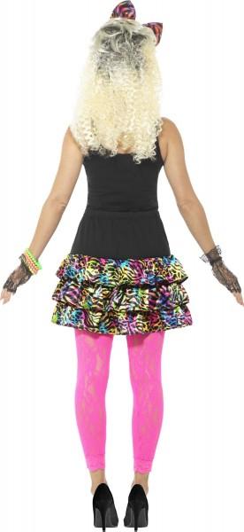 Kimmy 80er Rock Mit Haarschleife Und Ketten