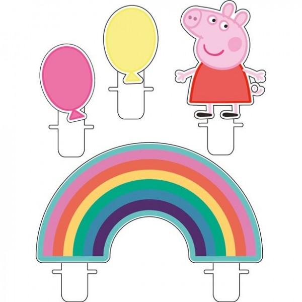 4 bougies de gâteau Peppa Pig Party Fever