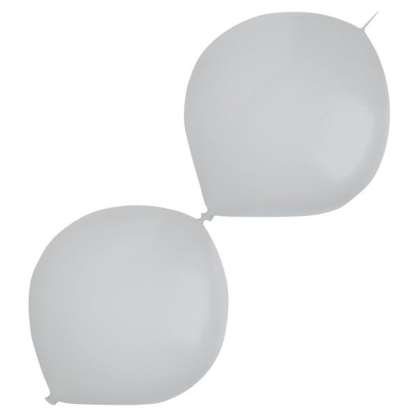 50 Metallic Girlandenballons silber 30cm