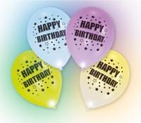 4er Set Happy Birthday LED Luftballons