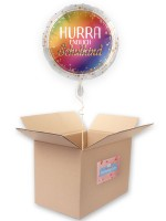 Schulkind Regenbogen Folienballon 45cm