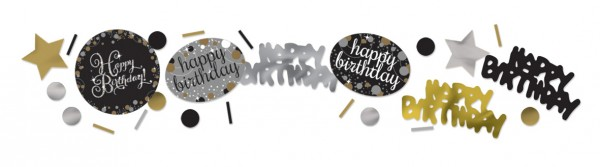 Golden Happy Birthday sprinkle decoration 34g