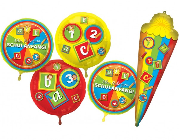 Back to school helium bottle with balloons