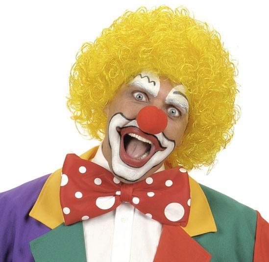 Perruque Clown Augustin jaune