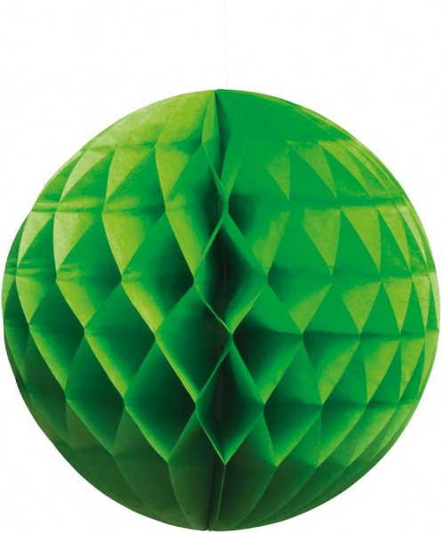 Green paper honeycomb ball 25cm