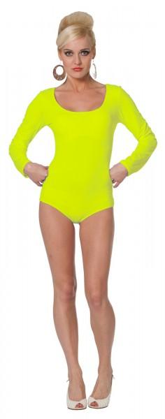 Body básico en amarillo neón