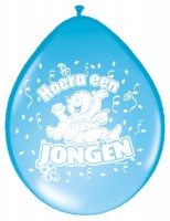 8 Hurra ein Junge Babyparty Ballon