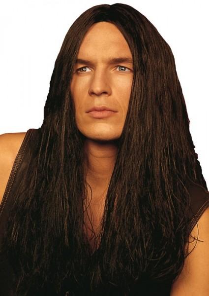 Braune Tarzan Langhaar Perücke