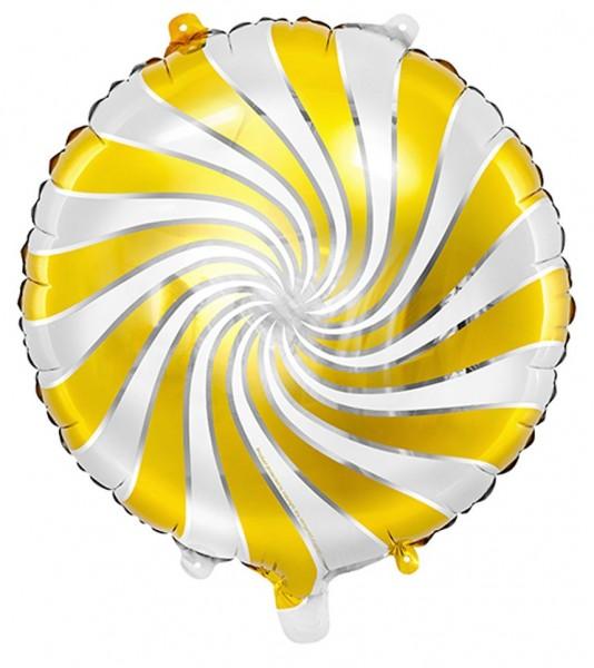 Ballon aluminium Candy jaune 35cm