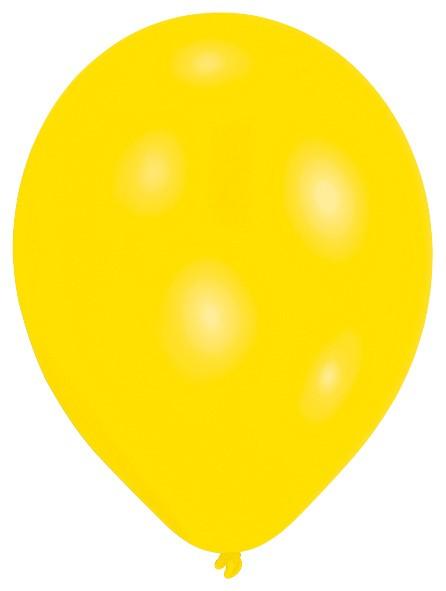 Set of 50 yellow balloons 27.5cm