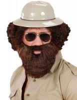 Brauner Herren Schnurrbart