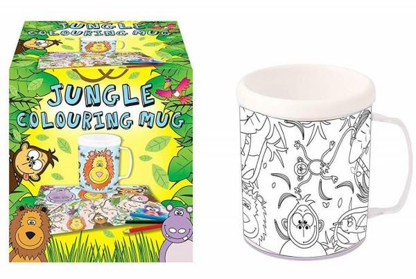 Jungle Fiesta krus til farvelægning