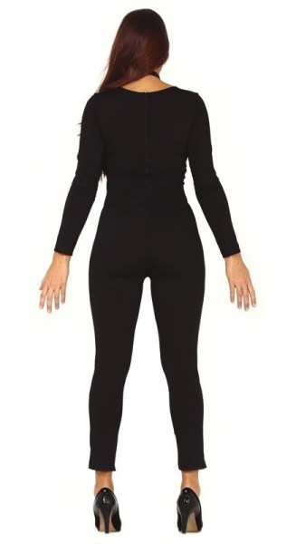 Scary skeleton catsuit for women