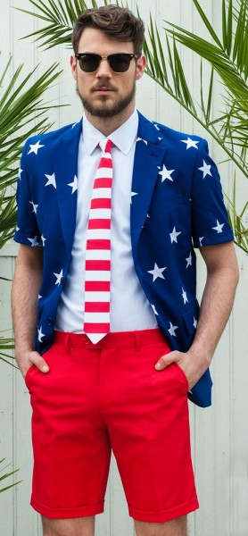 OppoSuits Sommer Anzug Stars and Stripes