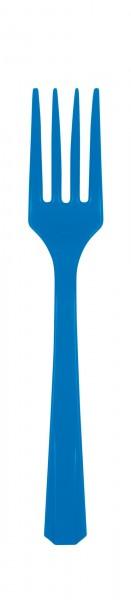 10 plastic forks Amalia, royal blue