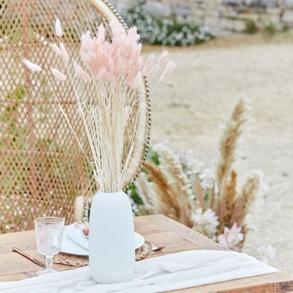 20 Country Wedding fluweel grassen roze 65cm