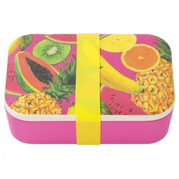 Umweltfreundliche Brotdose mit Früchten