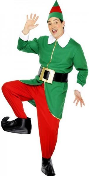 Disfraz de elfo navideño escamoso