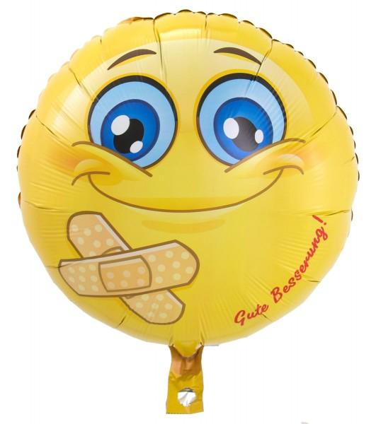 Folienballon Smiley Gute Besserung 43cm