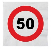 16 Servietten Zum 50. Geburtstag