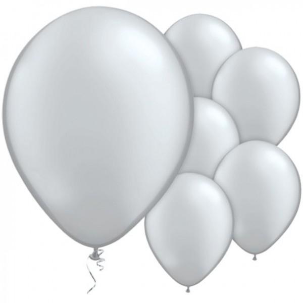 100 silver metallic balloons Pasison 28cm