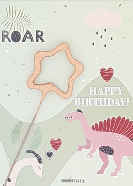 Dinosaur Birthday Wondercard
